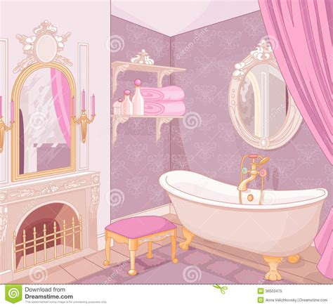 princess bathroom interior of bathroom in the palace royalty free stock