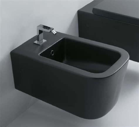 bidet noir bidet suspendu ceramica globo 54 x 36 en noir mat