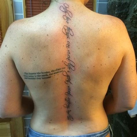 spine back tattoo quotes back tattoos for girls quotes spine creativefan