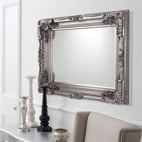 Silver Mirrors For Living Room by Viewing Photos Of Ornate Silver Mirrors Showing On Silver