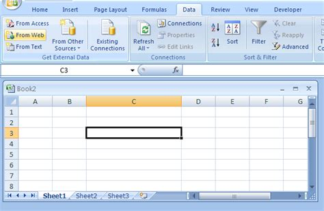 tutorial excel database 2007 get data from a new web query web query 171 collaboration