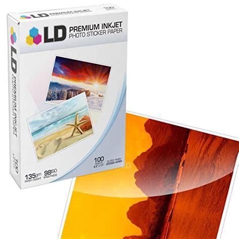 inkjet printable vinyl walmart ld 169 glossy inkjet photo sticker paper 8 5x11 100 pack