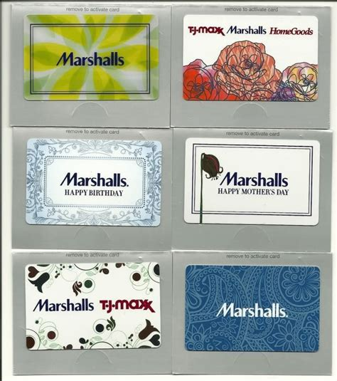 Tjx Gift Card - marshalls gift card shop collectibles online daily