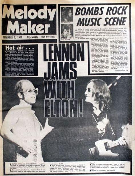 elton john john lennon song elton john john lennon melody maker covers pinterest