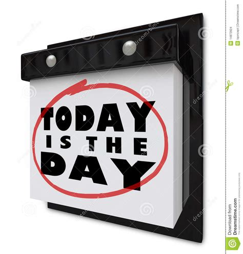today is the day wall calendar stock illustration