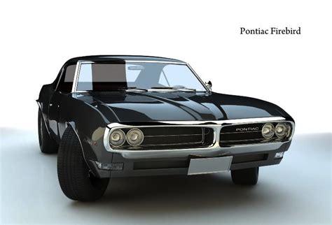 pontiac 1968 models pontiac firebird 1968 3d model free 3d models