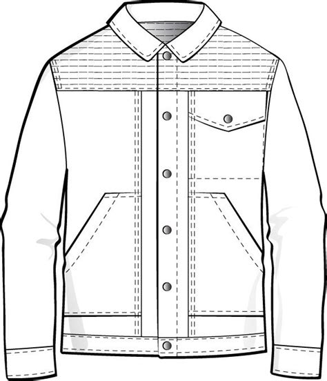 mens flat fashion sketch clothing design templates