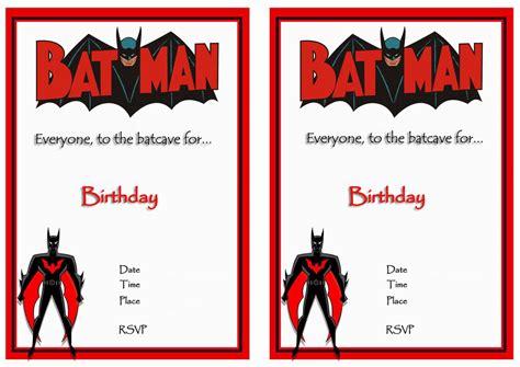 printable birthday invitations batman batman birthday invitations birthday printable