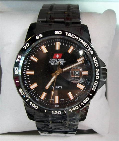 Swiss Army 1138 G C Black jam tangan swiss army original hcc 1121g black kaskus