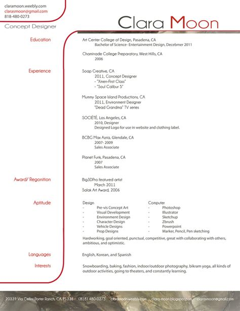 Resume Format And Example by About Me Resume