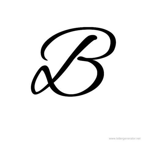 letter b typography cursive alphabet gallery free printable alphabets letter generator net