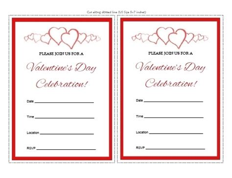 Printable Valentine Invitation | free printable valentine invitations cobypic com