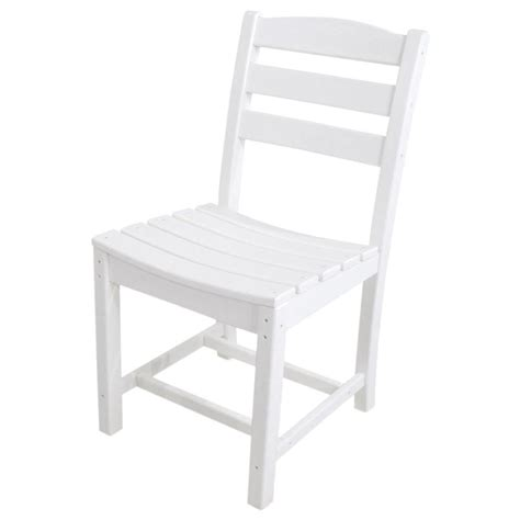 Polywood Dining Chairs Polywood La Casa Cafe White All Weather Plastic Outdoor