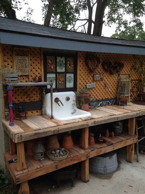 mk unique garden sheds my amazing potting bench that my son made for me