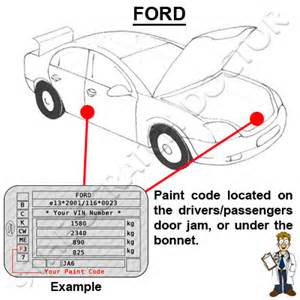 ford focus paint codes images