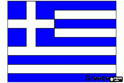 Flag of Greece coloring page, printable Flag of Greece