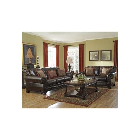 durablend antique living room set modern house 9430038 ashley furniture ledelle durablend antique sofa