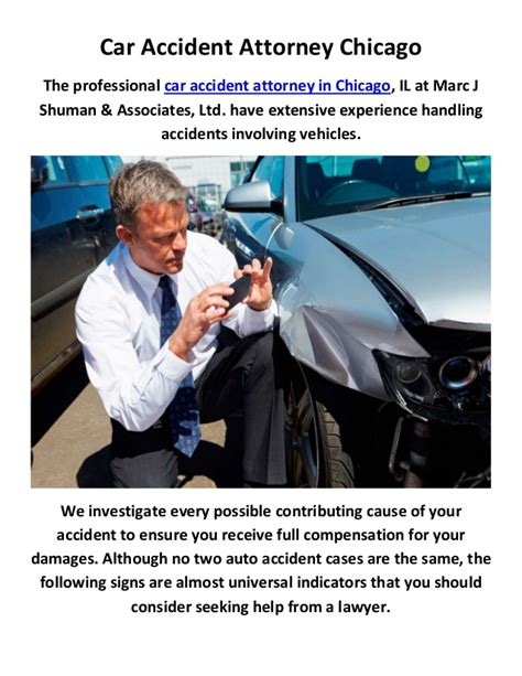 Auto Lawyers In Chicago by Marc J Shuman Associates Ltd Car Attorney In