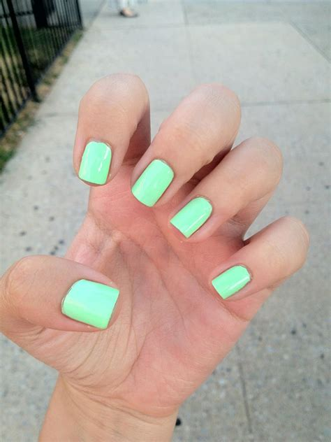 mint color nails minty fresh haha mint colored nail the color