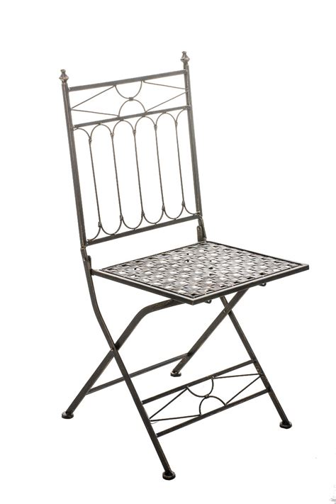 Folding Metal Patio Chairs Folding Iron Garden Chair Asina Foldable Patio Outdoor Seat Metal Vintage Shabby