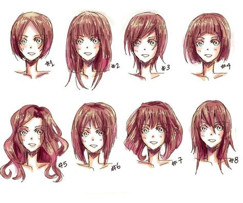 anime hairstyles for beginners anime hairstyles sketching basics pinterest