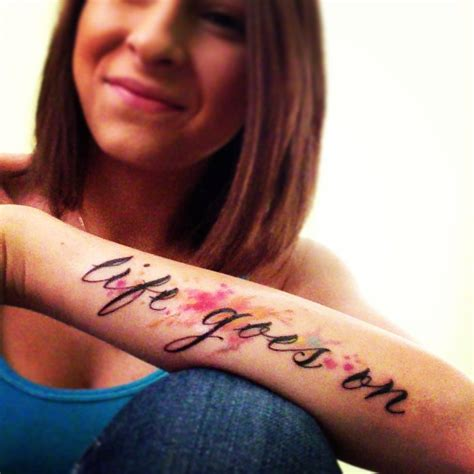 life goes on tattoo best 25 watercolor words ideas on