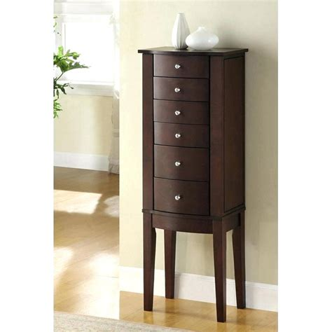 large standing jewelry armoire armoire jewelry armoire cherry locking free standing
