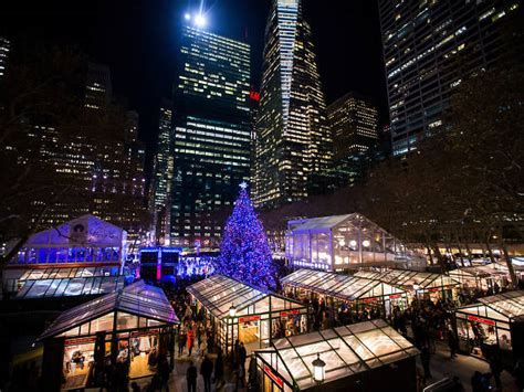 bryant park winter village  guide  opening