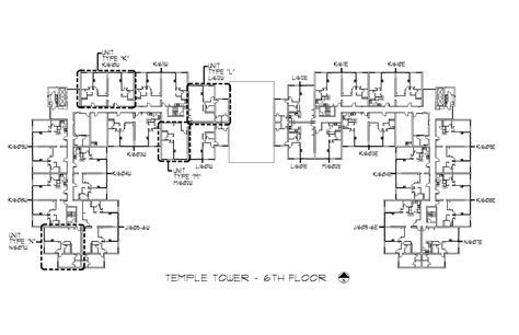 l tower floor plans temple towers university housing and residential life