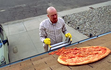 Breaking Bad Pizza Meme - vince gilligan explains that unsliced pizza on breaking
