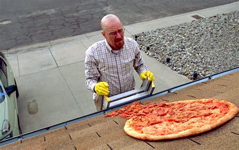 Breaking Bad Pizza Meme - vince gilligan explains that unsliced pizza on breaking