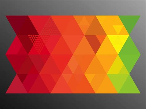 triangle color pattern vector colorful triangles vector art graphics freevector com