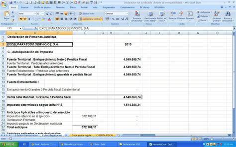 tarifa 1 impuesto sobre la renta venezuela declaraci 243 n de impuesto sobre la renta p naturales excel