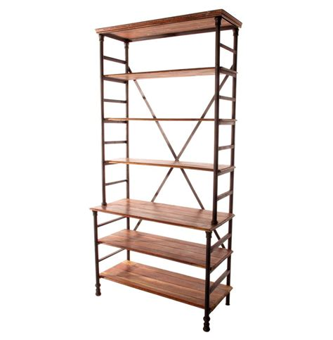 pipe works reclaimed wood industrial pipe bookcase