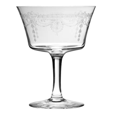 retro martini glass retro fizz 1890 vintage cocktail glass drinkstuff