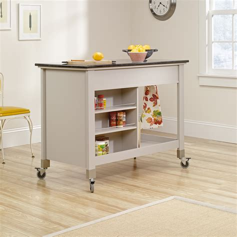 mobile kitchen island original cottage mobile kitchen island cart 414405 sauder