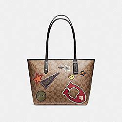 Coach F20910 Varsity Tote Black Khaki coach handbags coach handhandbag