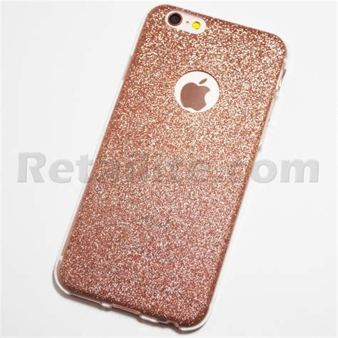 gold glitter car rose gold glitter iphone 6 iphone 6s soft case retailite