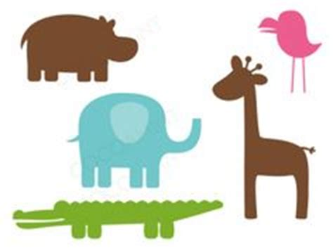 printable jungle animal silhouettes baby animals silhouettes cute animals lion giraffe