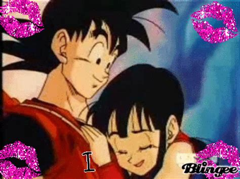 goku con su esposa imagenes bonitas frases bonitas fotos animadas goku y milk para compartir 122125382