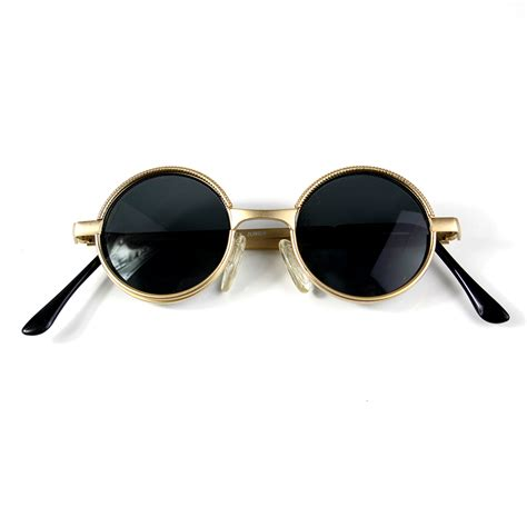 best small frame small sunglasses metal frame gold silver lens