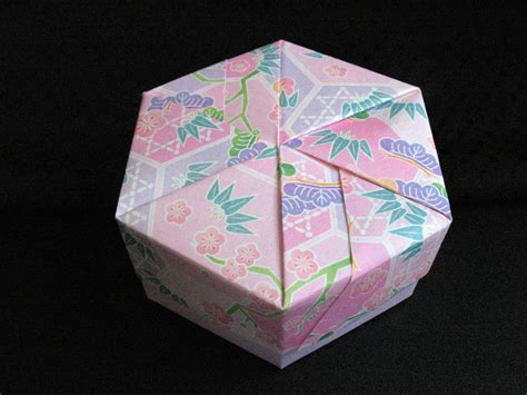 origami hexagon box hexagon box gbgifts