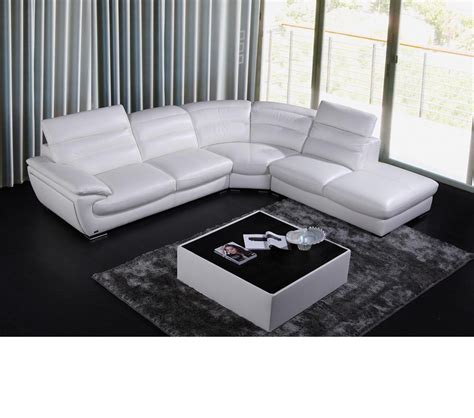 white leather contemporary sectional dreamfurniture com 8468 contemporary white leather