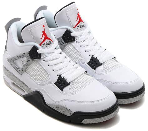 air jordan 4 retro nike air jordan 4 og 89 white cement 2016 sneaker bar