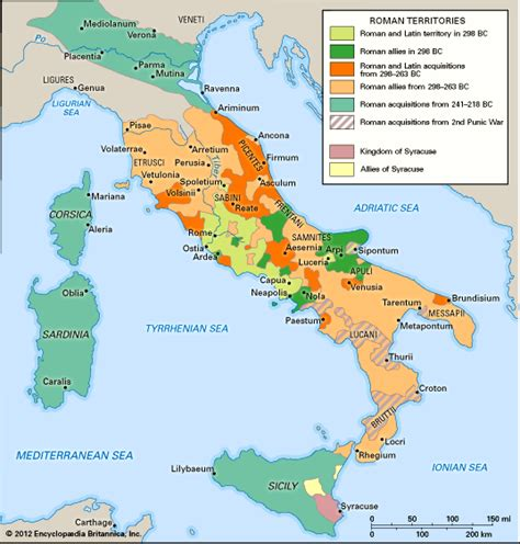 how did rome treat different sections of its conquered territory roman republic history government map facts