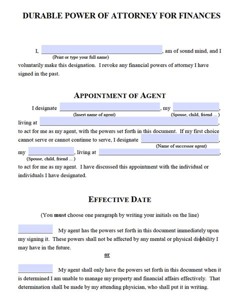 Power Of Attorney Template Michigan Free Durable Power Of Attorney Michigan Form Adobe Pdf