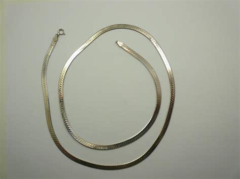 assorted vintage sterling silver herringbone necklace