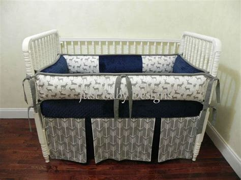Nursery Bedding For Boys by Custom Baby Bedding Set Kees Navy Boy Baby Bedding Deer