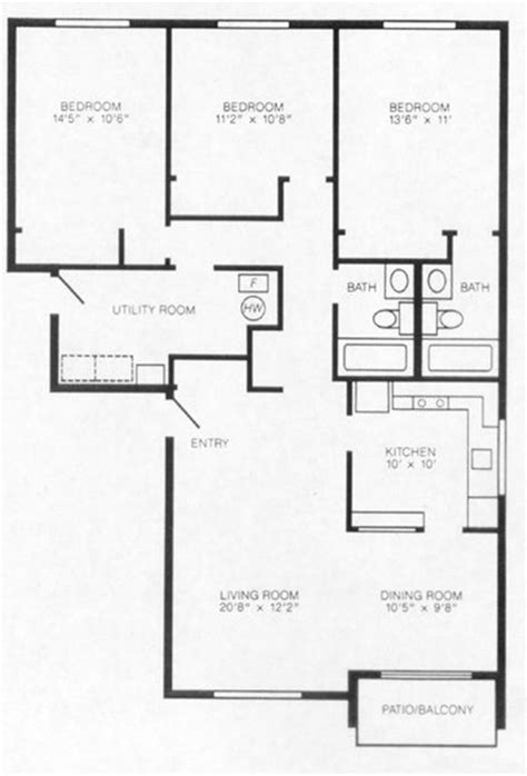 garden apartment floor plans garden apartment for rent 3 bedrooms 2 bathrooms maple