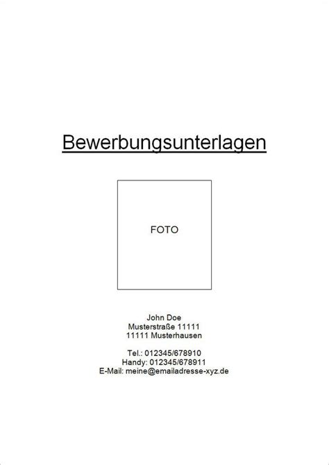 Bewerbung Mit Bild Oder Ohne Deckblatt Bewerbung Mit Einem Deckblatt Versehen